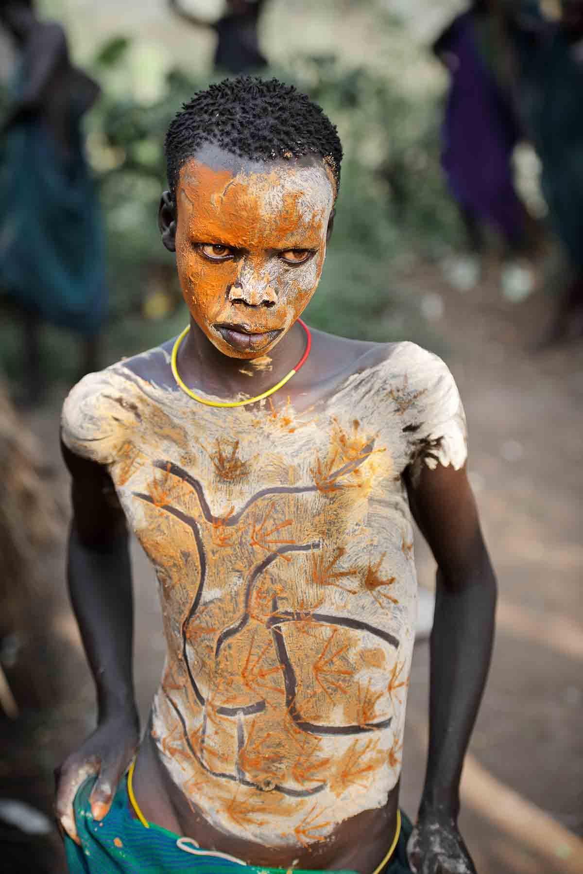 Body painted Suri boy