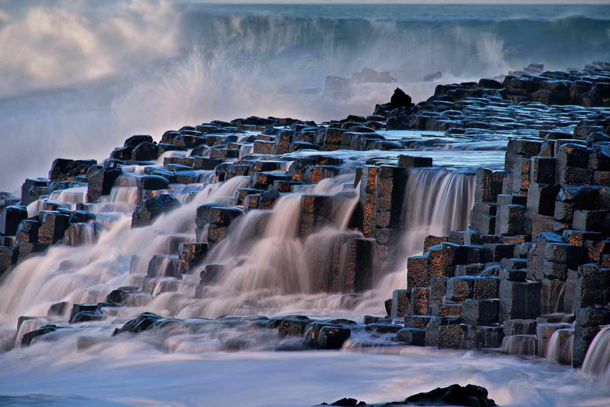 Giants causeway in copper tones