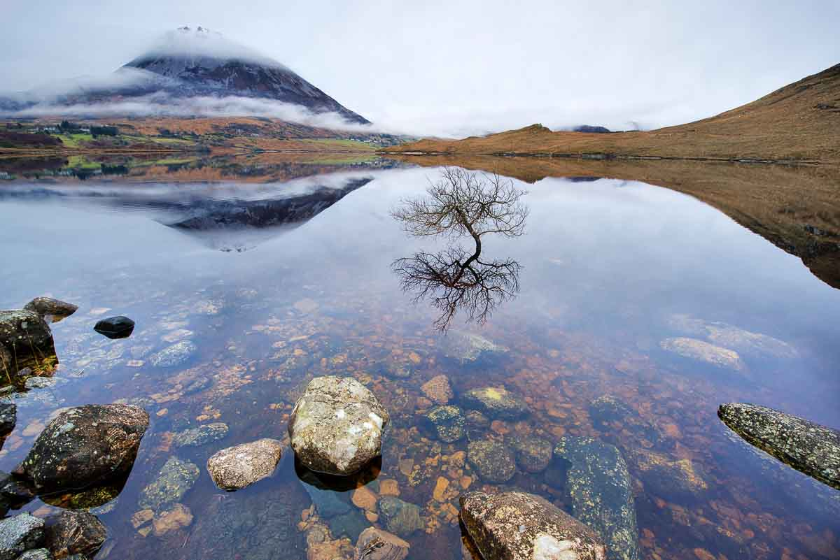 Lough Dunlewy and Errigal